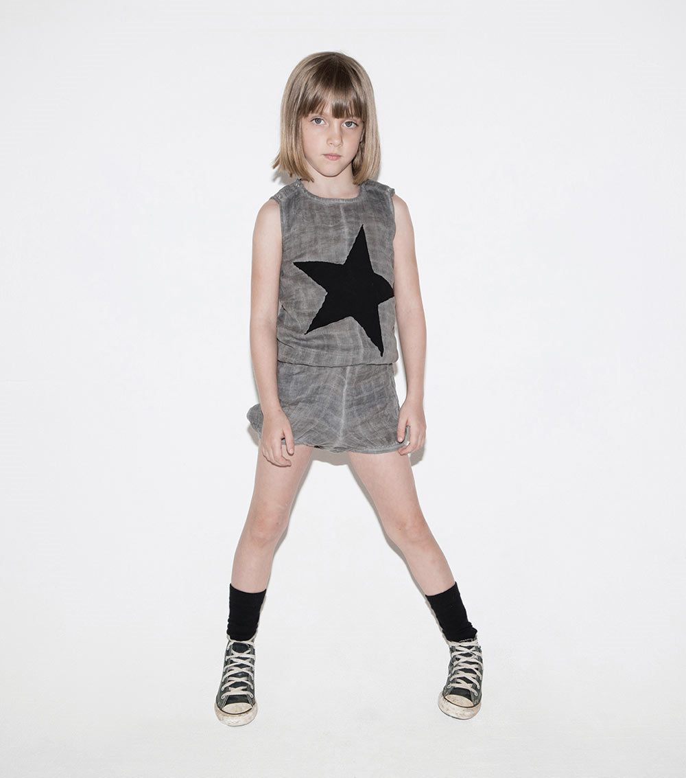 star patch muslin yoga overall