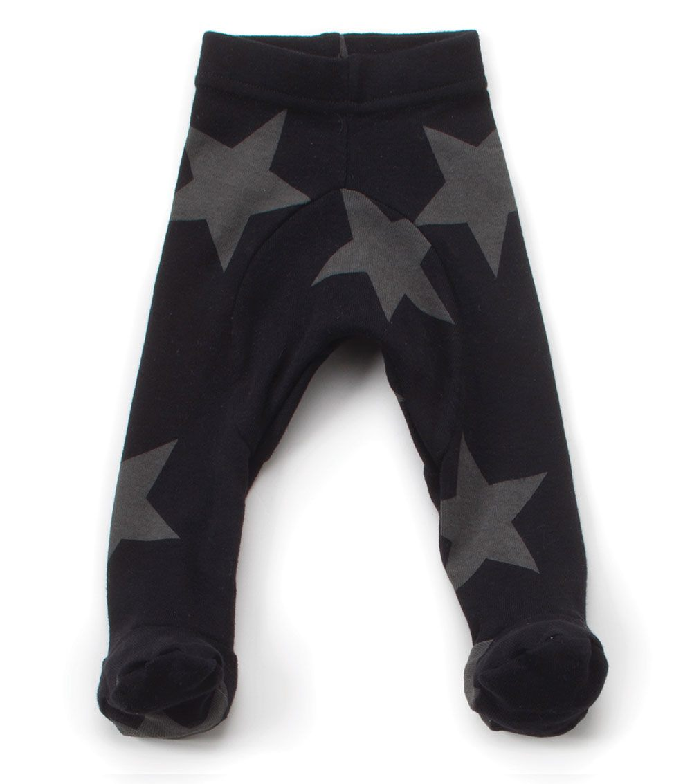 star footie leggings