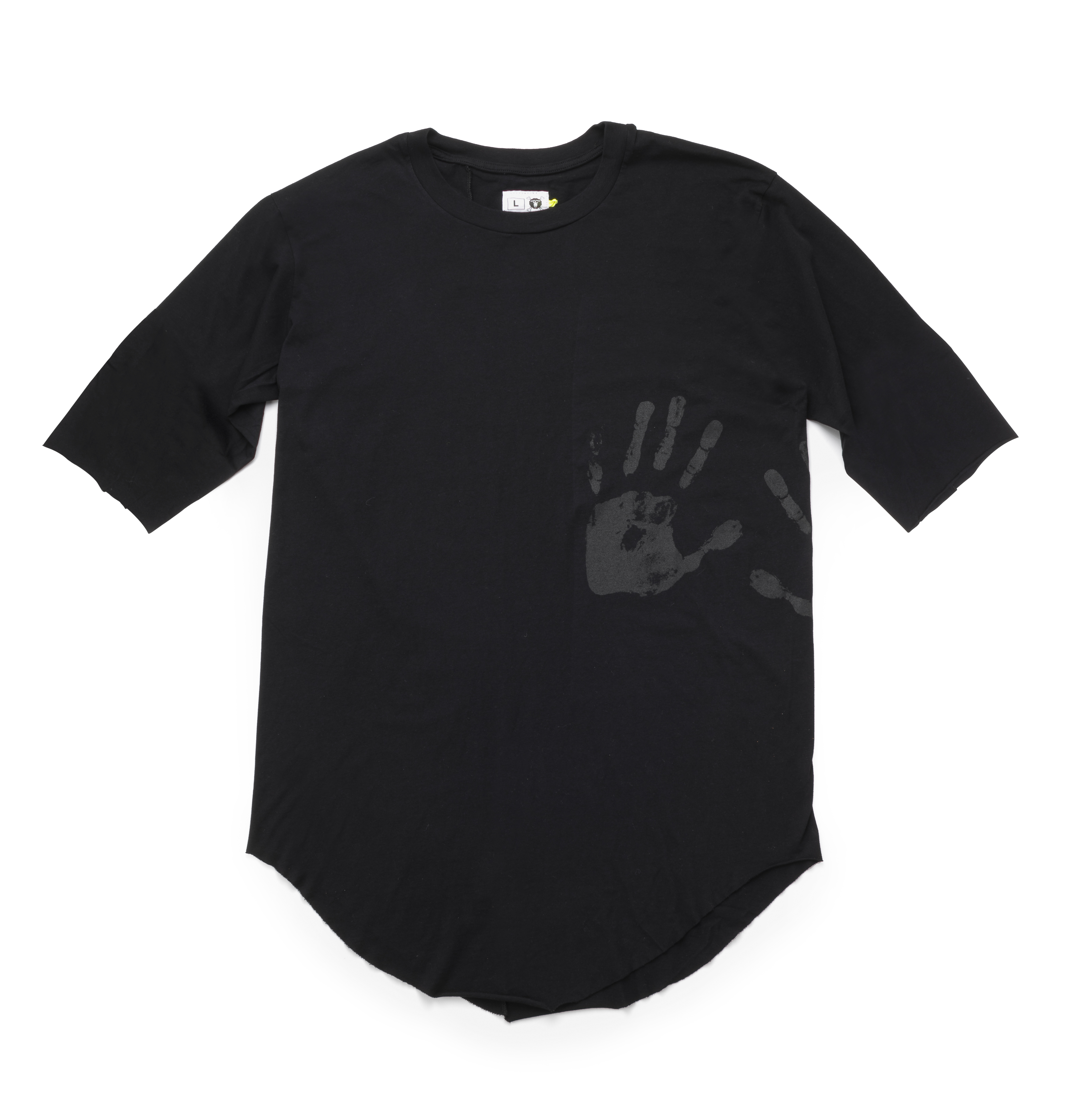 oversized adult hand print t-shirt