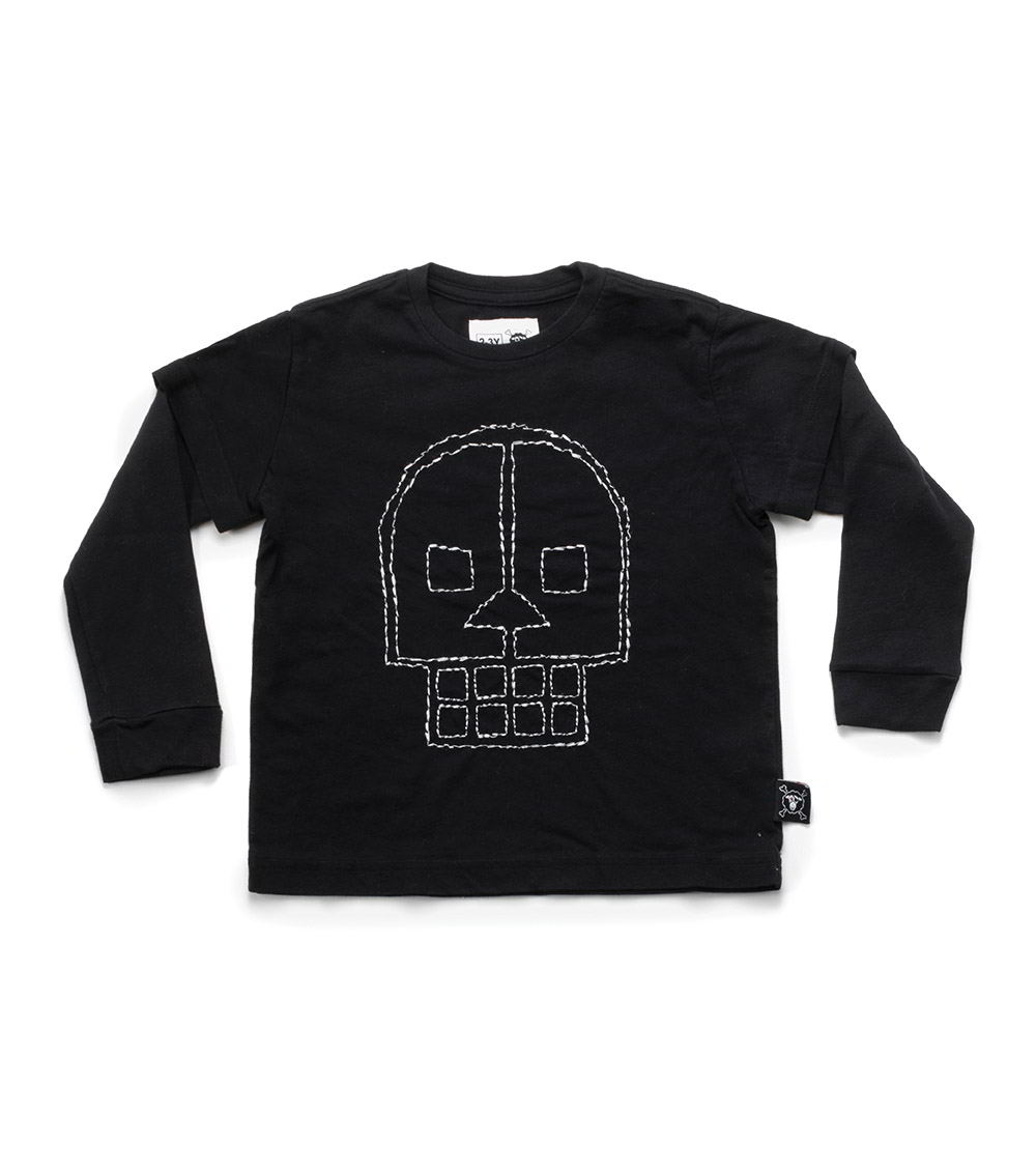 embroidered skull t-shirt