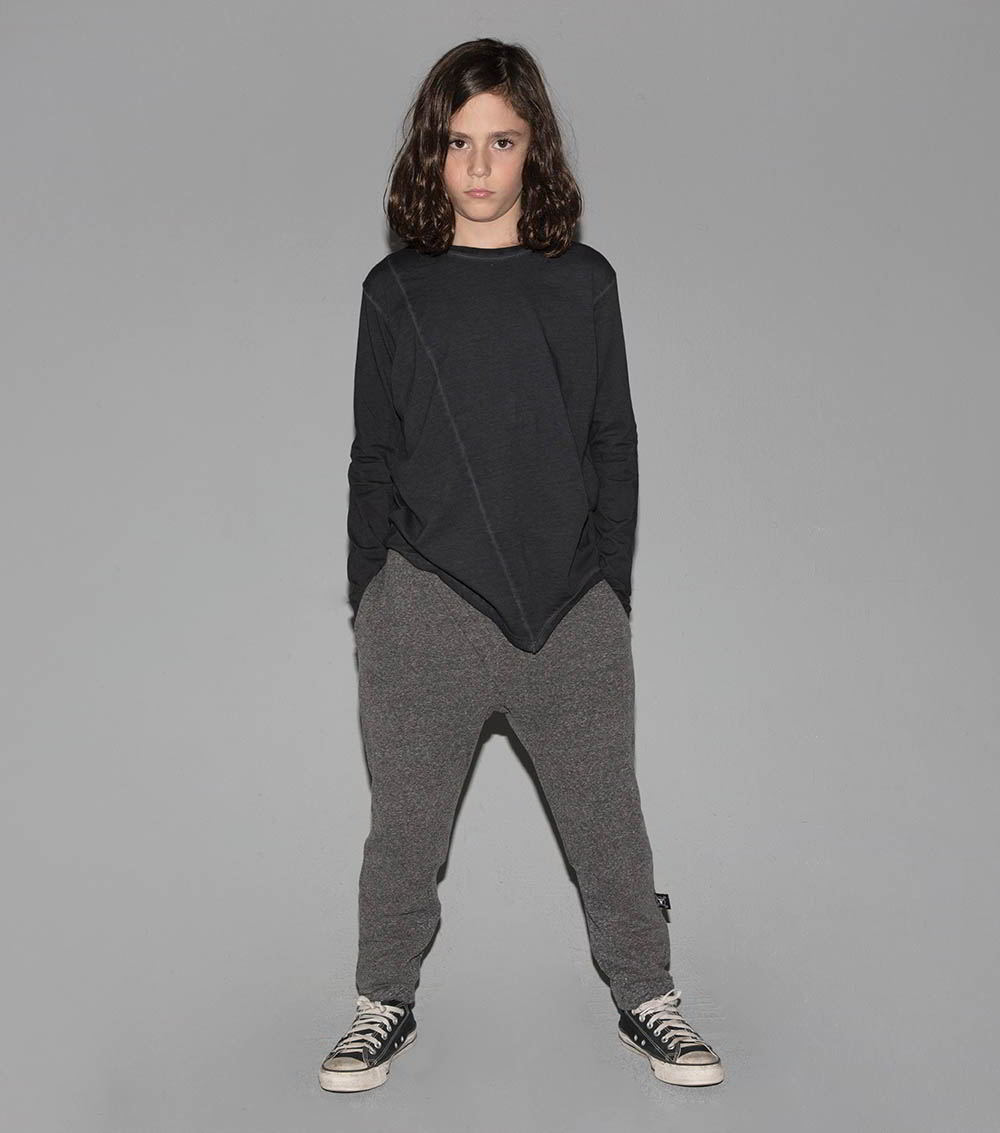 french terry side fold pants