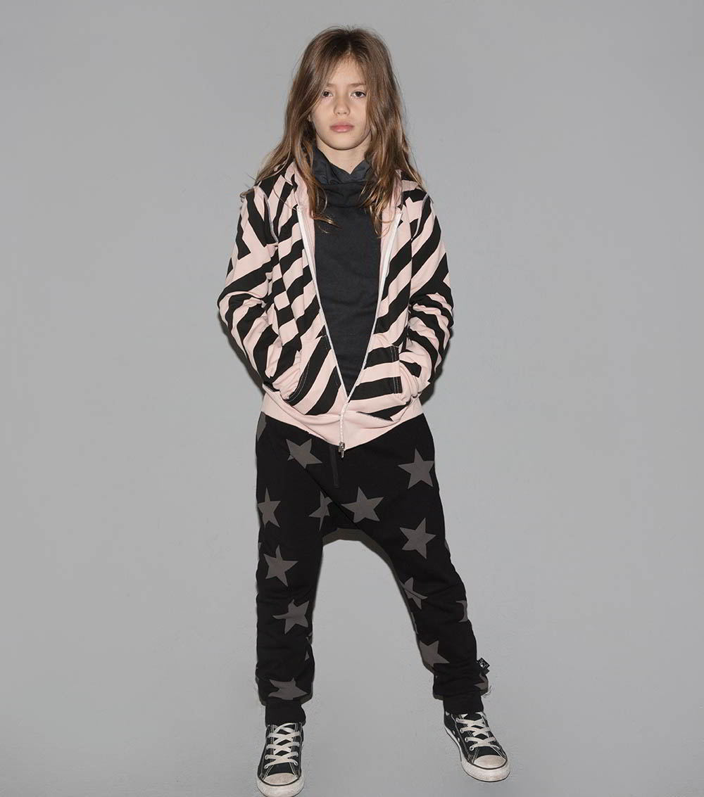 french terry star baggy pants