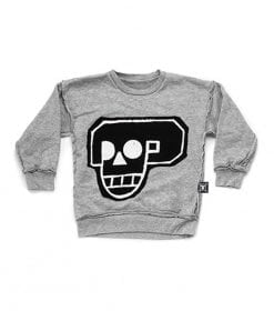 SKULL ROBOT PATCH SWEATSHIRT