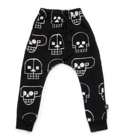 FRENCH TERRY SKULL ROBOT BAGGY PANTS