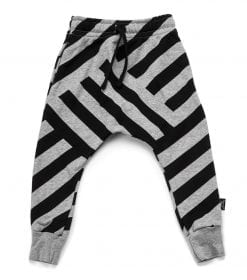 FRENCH TERRY STRIPED BAGGY PANTS