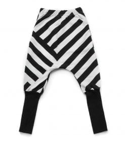 FRENCH TERRY STRIPED DONKEY PANTS