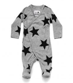 STAR ENVELOPE FOOTED OVERALL