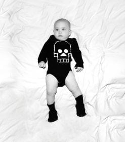 SKULL PATCH ONESIE