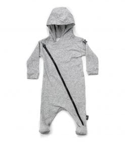ZIP FOOTED HOODED OVERALL