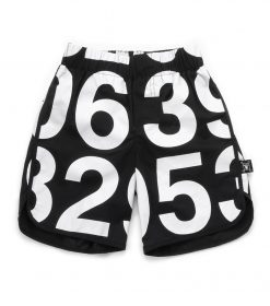 numbered surf shorts