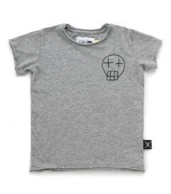 embroidered sketch skull t-shirt