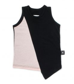 half & half diagonal tank top