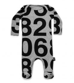 numbered footed overall