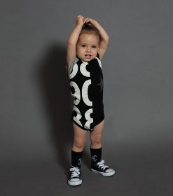 quilt sleeveless onesie