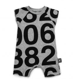 numbered sleeveless overall